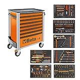 BETA Easy Werkzeugwagen mit 8 Schubladen mit 384 teiligem Werkzeugsortiment