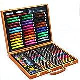 Set de plumas de pincel de acuarela de arte Arte cepillo Conjunto de papelería regalo de los niños de madera caja 150 Pluma de la acuarela Conjunto Crayon lápices de colores Caja Regalo para amantes d