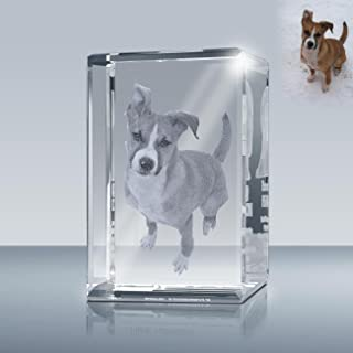 Laser Engrave Photo Crystal Rectangle A00202, Custom Crystal Cube, Picture in Glass Gift Made by Goodcount