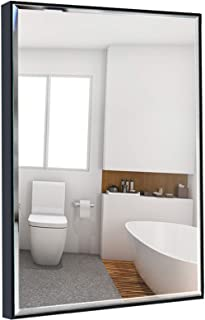 Calenzana 22×30 Wall Mirror with Black Frame, Explosion-Proof Beveled Hanging..