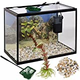 URBN Living 26 Liter Glas Aquarium Starter Set mit Filter