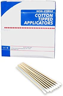 Cotton Tipped Applicators 3 inch. Case of 1000 Swabsticks. Wood Shaft, 100% Cotton tip. Non-sterile swabsticks for Medical Applications. Latex-Free. Single use.