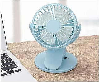 SHANGRUIYUAN-Mini Fan Multifunction Portable Desktop USB Fan, Mini Clamp Silent Fan 360° Rotating,Air Fan Home ABS Electric Computer Table Fan (Color : Blue)