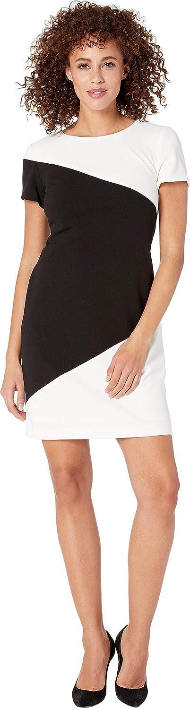 Tommy Hilfiger Scuba San Francisco Mall Limited time cheap sale Crepe Ivory Dress Black 6