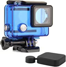 SOONSUN Protective Waterproof Dive Housing Case for GoPro Hero 4, Hero 3+, Hero 3 Black Silver Camera - Underwater 40 Meters (131 Feet) - Transparent Blue