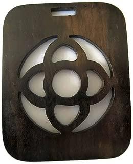 GemsDiamondsbySHIKHA 2 Pieces Natural Ebony Wood Celtic Cross Hand Carved Handmade Wooden Pendant, GDS1043/11