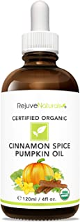 Sponsored Ad - USDA Organic Cinnamon Spice Pumpkin Seed Oil (LARGE 4-OZ Bottle) Warm & Uplifting Full Body Massage Oil. Pr...