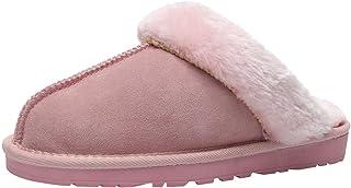 ANUFER Unisexo Adultos Niñas Familia Pantuflas Calentar Invierno Zapatos de la Casa