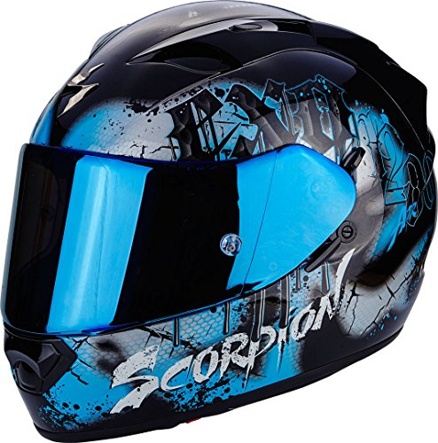 Scorpion Helm Motorrad exo-1200 Air Tenebris Black/Sky Blue, S