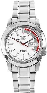 Seiko Men's SNKK25 5 Stainless Steel White Dial Watch