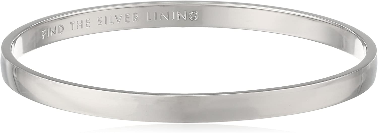 Kate Spade New York Women's Find The Silver Lining Idiom Bangle