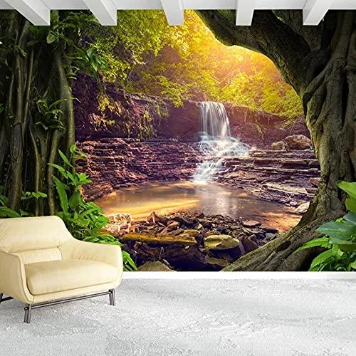 3D Bosque Cascada Paisaje Foto Pintura De Pared Sala De Estar Sofá Dormitorio Decoración Del Hogar Mural Revestimiento De Paredes