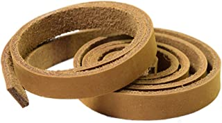 Hide & Drink, Thick Leather Strong Strap (1/2 in.) Wide, Cord Braiding String, Heavy Weight (3.5mm Thick) (48 in.) Long for Craft Workshop Handmade :: Old Tobacco