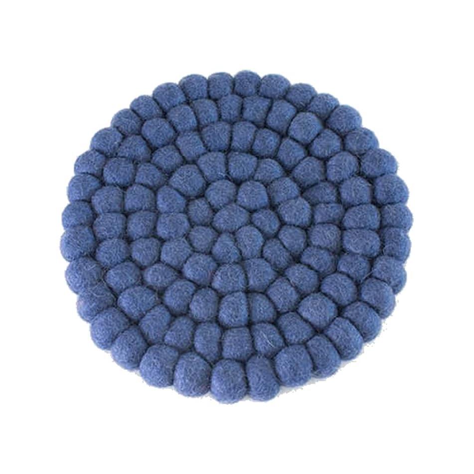 省役立つ消去nkp004-004/b2cフェルト 単品-トリベット (ネイビー)|鍋置き 鍋敷き トリベット