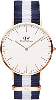 Daniel Wellington Men's Quartz Watch Classic Glasgow 0104Dw With Plastic Strap, Multicolour Band, Analog Display