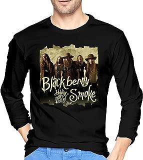 Men's Tops BlackBerry Smoke Casual Long Sleeve Tee