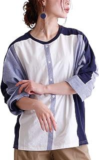 [サワ アラモード] シャツ 風 切り替え 長袖 トップス レディース
