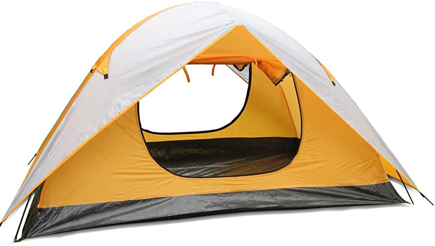 Plein Air Camping Pêche Tente Tente Double,200140110CM-jaune