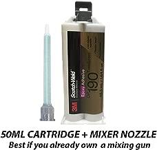 3M ScotchWeld DP190 Translucent Epoxy Adhesive (50ml/1.7oz Cartridge)