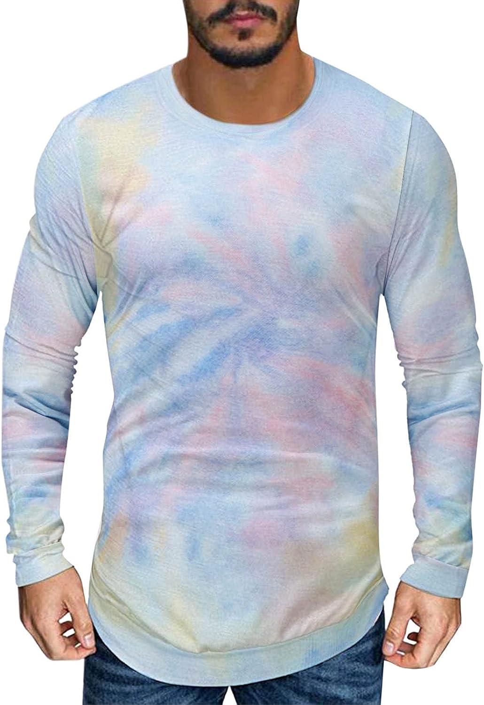 Men's Sweatshirts No Hood Stylish T Shirts for Men Round Neck Sweatshirts Mens Slim Fit Shirts Gym Shirts Gifts