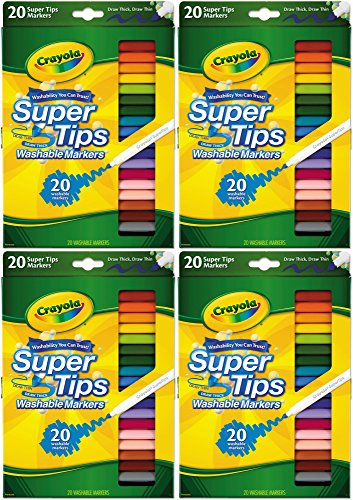 Crayola 58-8106 20CT Super Tips Marker (Pack of 4)
