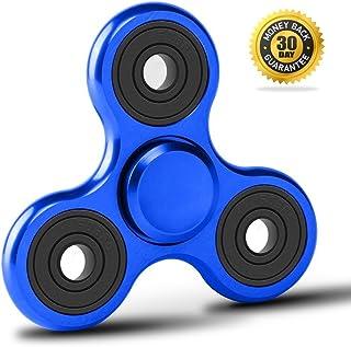 GENERIC NEW Metal Light Up Fidget Spinner Toy Blue