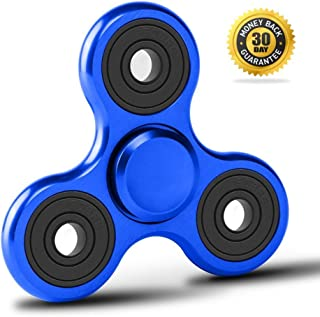 Vivahouse Fidget Spinner | Hand Spinner Stress and Anxiety Relief Toy | ADHD, Autism, ADD | Promotes Calming Clarity and Focus | Quiet, Spinning Aluminum Alloy Gadget | Pocket Size (Blazing Blue)