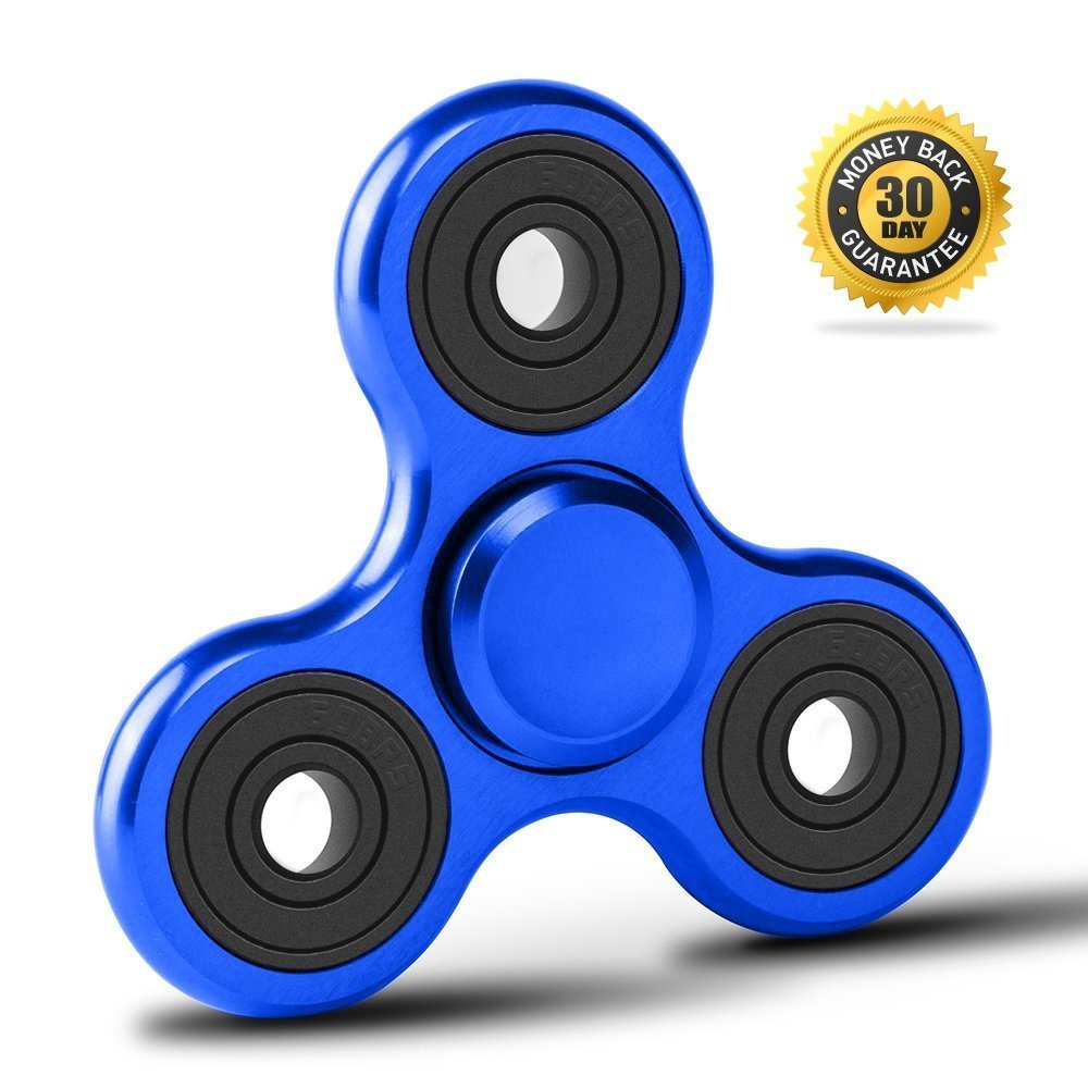 Giróscopo de mano anti-estrés Vivahouse Fidget Spinner, + juguete para aliviar la ansiedad, autismo, ADHS,