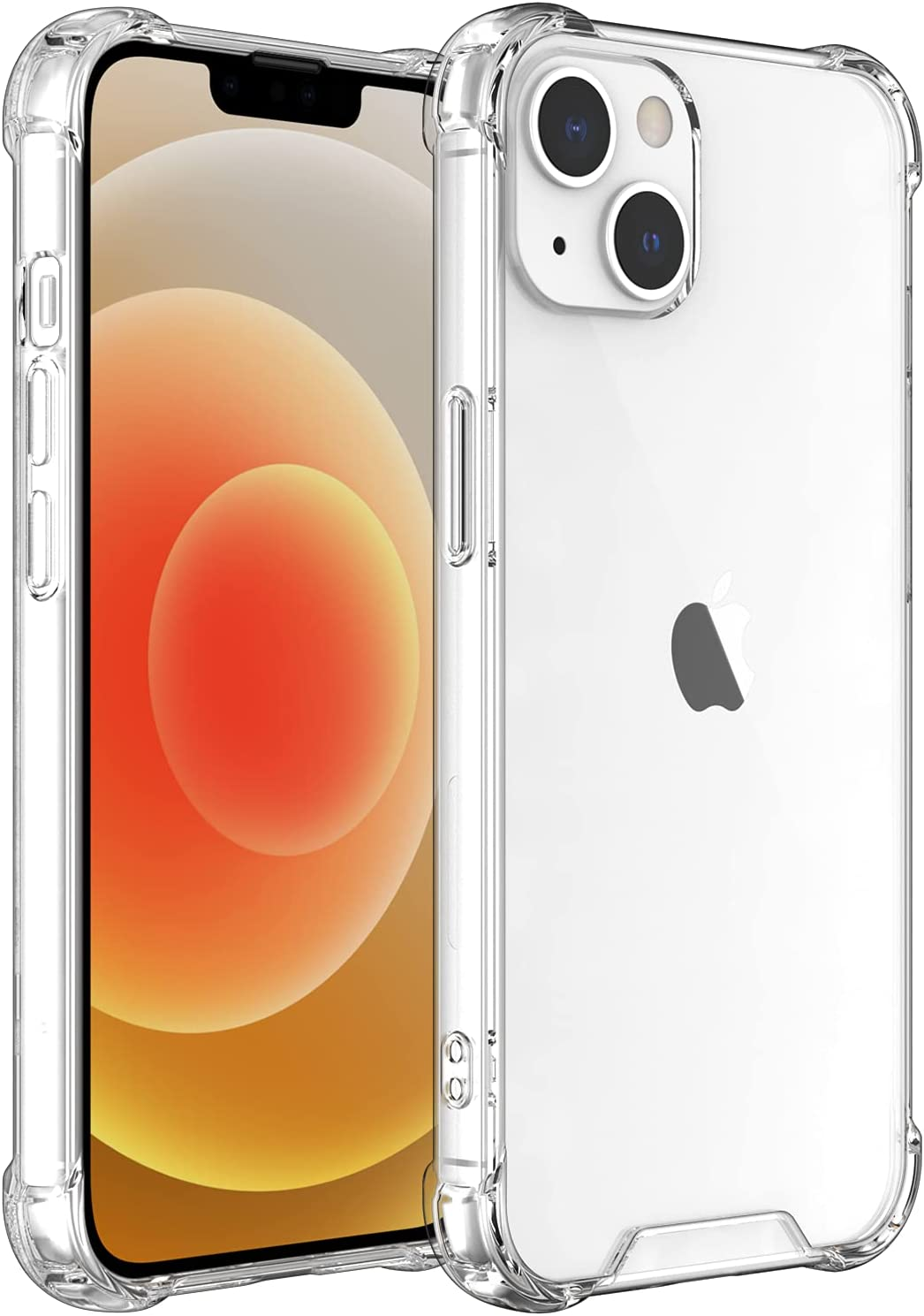 Shamo's for iPhone 13 Case, Crystal Clear Anti-Scratch Shock Absorption Cover, TPU Bumper with Reinforced Corners [ Anti Yellowing ]