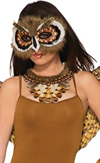 Forum Novelties Women's Non-Feathered Owl Mask, Multi, Standard