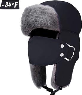 Trapper Hat Winter Hats for Men Women Russian Ushanka...