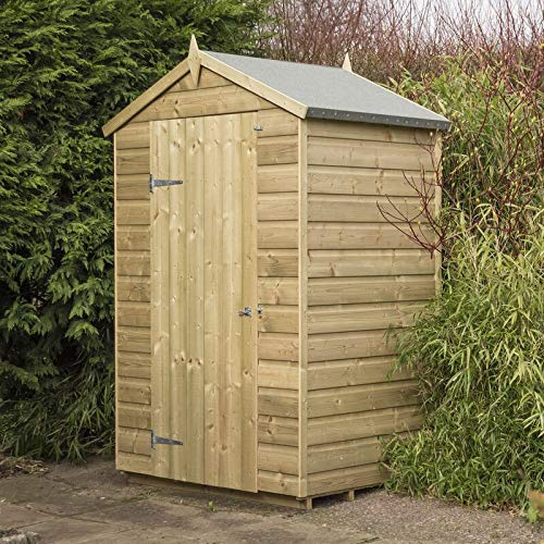 Loop 3x4 Storer Overlap Garden Shed with Floor | Windowless Wooden Shed with Apex Roof | Garden Storage Shed 3x4