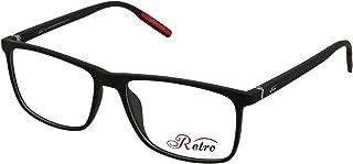Retro Unisex-adult Spectacle Frames Rectangular 5503 M.Black/Red, 54