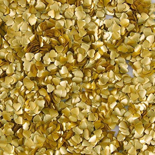 Wilton Gold Heart Edible Accents, 0.06 oz.