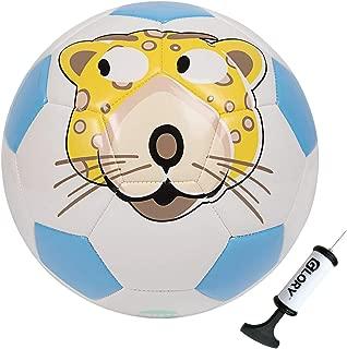 GLORY Kids Soccer Ball with Pump Cartoon Toddler Soft...