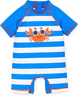 Little Me Children's Apparel Baby and Toddler Boys UPF 50+ Rashguard Suit