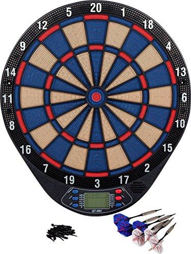 Kings Dart Dartscheibe Hobby | In & Outdoor | Elektronisches Dartboard | 4 Spieler | Inkl. 6 Dartpfeile | 21 Spielmöglichkeiten | Leuchtanzeige + Sound | Softdart bis 16 g