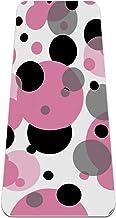 BestIdeas Yoga Mat Polka Dots Patroon Roze Zwart voor Yoga, Pilates, Floor Oefening Mannen Vrouwen Meisjes Jongens Kindere...