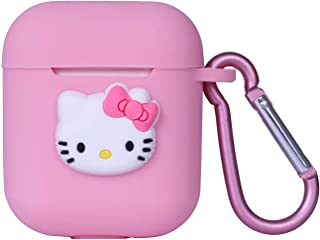 Airpods Case,Cute 3D Cartoon Premium Full Protective Silicone Case Cover Skin Compatible with Apple Airpods Charging Case ...