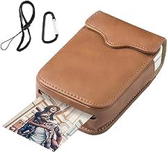 Portable Leather Case for HP Sprocket Portable Photo Printer/Polaroid Zip Wireless Mobile Photo Mini Printer,Brown