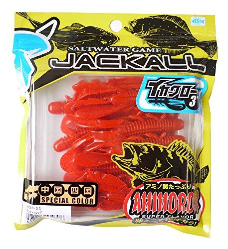 JACKALL(ジャッカル) ワーム イカクロー 3インチ フラッシュレッド