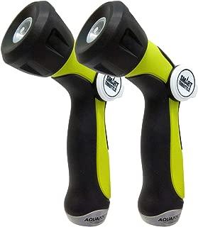 Aqua Joe AJHN100-2 One Touch Adjustable Hose Nozzle   Smart Throttle Control   2-Pack