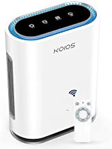 KOIOS Large Room Air Purifier with True HEPA Filter, Activated Carbon, UV Sanitizer & Ionic Air Cleaner, Detect Air Qualit...