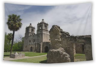Wall Tapestry For Bedroom Hanging Art Decor College Dorm Bohemian, Approaching Front Entry Of Mission Concepcion San Anton...