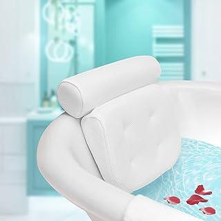 ESSORT Coussin de Bain, Oreiller de Bain avec Ventouses--Ergonomique Home coussin bain baignoire pour Baignoire de Oreille...