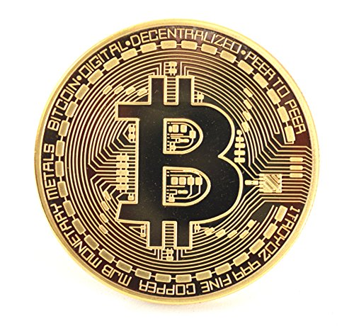 x2 CryptoGear Fine Gold Plated Copper Commemorative Round Bitcoin| Physical Bitcoin is gold plated copper in Protective Case | Bitcoin Display Piece