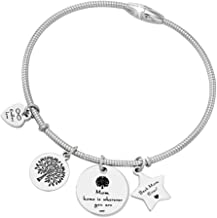 Gift for Mom - Best Mom Ever Family Tree Charm Pendant Bracelet Jewelry for Mother's Day from Daughter/Son with Gift Box