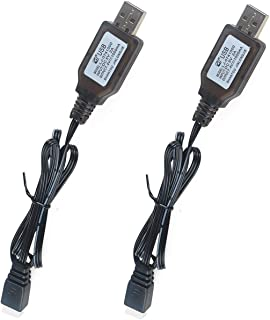 2pcs 7.4V 1000mA USB Charger Power Adapter Cable for LiPo Battery RC Quadcopter FPV Drone and RC Boat
