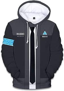 Become Human 3D Print Hoodie Sweater Varsity Baseball Jacket Sweatshirt Cosplay Costume