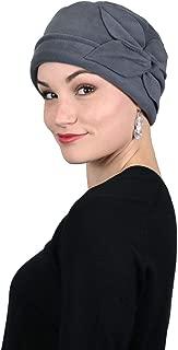 Women's Hat Fleece Beanie Cloche Cancer Headwear Chemo Ladies Winter Head Coverings Butterfly